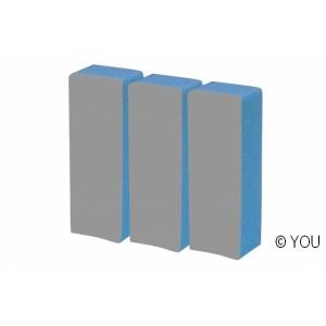 Grey-blue diamond buffer  Nail files-buffer