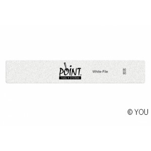 Point white file (80/80) Nail files-buffer